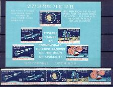 Raumfahrt, Space - Korea-Süd - 664-668, Bl.285 ** NNH 1969 !