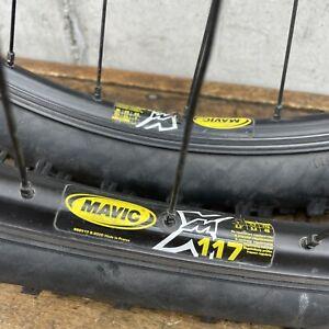 "26"" Wheel Set Mavic Disc 117 Vintage MTB Rims IRC Mythos X117 32 h 135 mm"