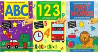 Pre School Sticker Activity Books Early Learning Maths English Spelling Count 20