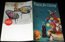 COCA-COLA 1955 #4 PAUSE FOR LIVING ADVERTISING MAGAZINE FLOWER ARRANGEMENT COKE!