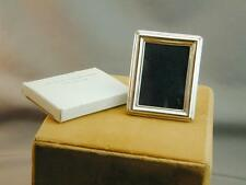 Miniature Sterling Picture Frame Rectangle New Old Store Stock Miro