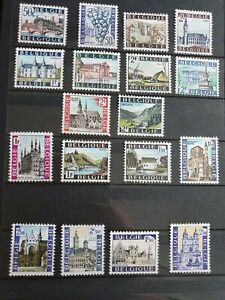 BELGIUM  different complete series castles churches culture MNH**