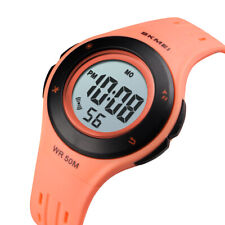 SKMEI Children Pink Watch Student Grils Digital LED Wristwatch Kids Gift Watches