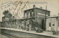 1251: AK Postkarte Senlis Frankreich Bahnhof 1. Weltkrieg 1915
