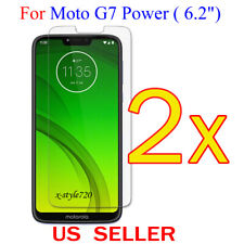 """2x Clear LCD Screen Protector Guard Cover Film For Motorola Moto G7 Power (6.2"""")"""