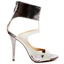 Guess High Heels Party Stiletto Gladiator Peeptoe Weiß 39 *Ohrringe gratis *