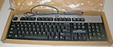 NEW Hewlett-Packard Black & Silver Keyboard USB Wired 104-Key Layout