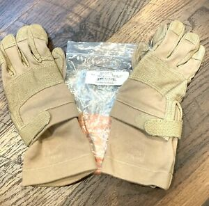 Camelbak Max Grip NT FROG Gloves Flame Resistant Tan FR Nomex US Military Med VG