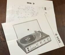 Manuale tecnico giradischi LP Europhon 5050 D