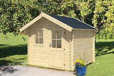 Gartenhaus Porto 3 ca. 250x300 cm Schuppen Satteldach Gerätehaus 28 mm Holz