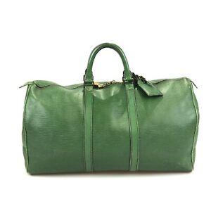 100% authentic Louis Vuitton Epi Keepall 50 M42964 Boston bag used 363-2-z