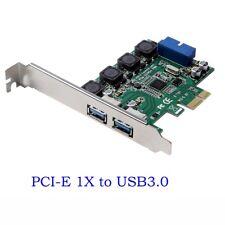 USB 3.0 2 Ports + 19 pin USB Header PCI-e Card Adapter PCI Express to 20 Pin new