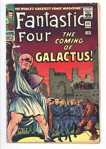 Fantastic Four #48 Vol 1 Very Nice Upper Mid Grade 1st Silver Surfer & Galactus