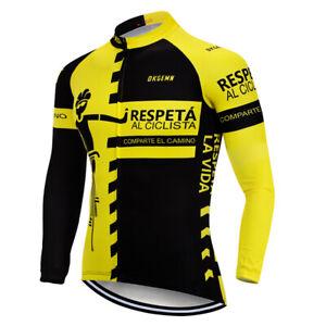 Men 2021 Cycling Long Clothing Set Jersey Bib Pants Set Shirt Tights Unique Kits