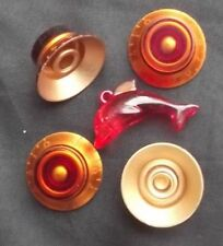 Set 4x Guitar Gibson/Epiphone Sg Top Hat Bell Volume Tone Standard Knob Red