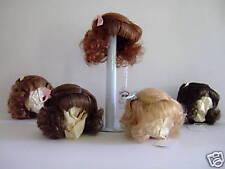 PERRUQUE 100% cheveux naturels pour POUPEE ANCIENNE -DOLL WIG -MI T1 (18cm)