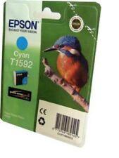 EPSON ORIGINALE Kingfisher T1592 ultrachrome CIANO CARTUCCIA INCHIOSTRO PER R2000,