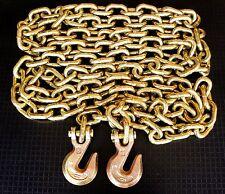 "G70 1/2"" x 20' Truck Tie Down Chain Binder Transport Chain Tow Chain wGrab Hooks"