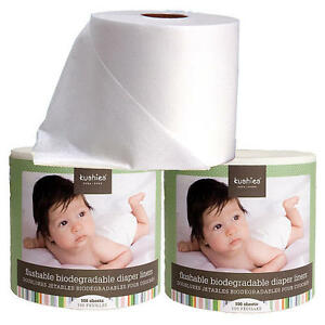 3 Pack Kushies Flushable Biodegradable Cloth or Disposable Diaper Liners 533500