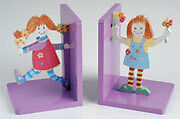 NEW - Patch Pals Wooden Childrens/Girls/Baby Bookends