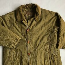 CP COMPANY Green Vintage Size 54 Long Cotton Trench Coat Lined Massimo Osti