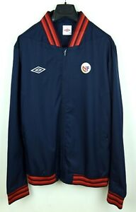 NORWAY Football Men's XL mesh lined Jacket Umbro Training Jumper Tracksuit Norge