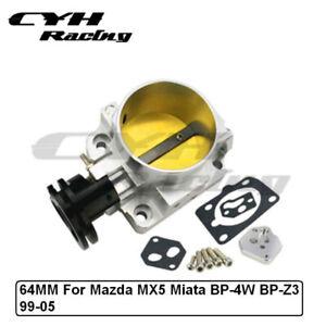 64MM Aluminum Intake Throttle Body For Mazda MX5 Miata BP-4W BP-Z3 99-05