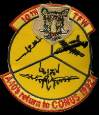USAF 10th Tactical Fighter Wing Squadron A-10 Return To Conus 1992 Patch Q-5