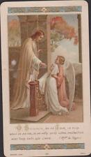 IMAGE PIEUSE HOLY CARD SANTINI- JESUS CHRIST - COMMUNIANTE ET ANGE -