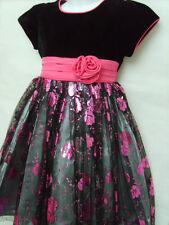 Winter Full Length Velvet Dresses (2-16 Years) for Girls