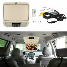 9 Inch Car Roof Mounted Overhead Flip Down TFT LCD Monitor Wide Screens TV Beige