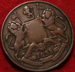 1835 East India Company 1/2 Anna Foreign Coin