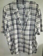 Ladies Vintage True Colours Size 20 Button Front Top Jacket Short Sleeves