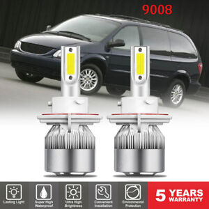 FOR CHRYSLER TOWN&COUNTRY 2005 2006 2007 - 2pc 9008 LED Headlight High/Low Bulbs