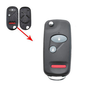 3 Buttons Flip Remote Key Case Shell Fob For Honda Accord Civic Pilot Element