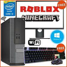 GAMING PC BUNDLE i3 4th COMPUTER DELL HP LENOVO WiFi 4GB 500GB FAST