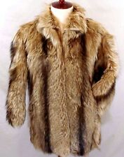 Vintage 80's WILSON'S Mens SMALL/S--Womens LARGE/L Dyed Nanny Goat Fur Coat