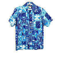 McInerny Mens Shirt Size Small Hawaiian Button Up VINTAGE 60s 70s Poly #2421