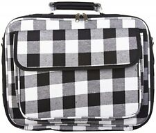 NEW PLAID LAPTOP COMPUTER BAG CASE NOTEBOOK SLEEVE 17 INCH LUGGAGE BLACK GRAY