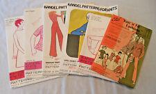 lot of 6 knit fashion patterns Else Kandel Knitis 1970's uncut unfolded
