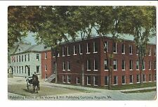 Vintage Postcard Augusta Maine ME Vickery & Hill Publishing Company Horse Buggy