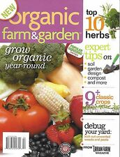 Organic Farm and Garden magazine Top 10 herbs Soil Compost Classic crops Bugs