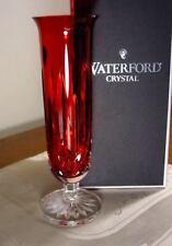 "Waterford Crystal LISMORE CRIMSON 8"" Stem Vase, NEW in BOX"