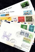 Germany Lufthansa Air flown flight cover collection x 5 WS12255