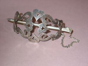 Artisan Hand Crafted Vintage Sterling Cut Out Design Pony Tail Holder
