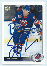 Steve Thomas signed 1992-93 Upper Deck New York Islanders autograph #171