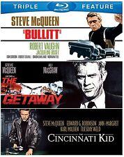 CINCINNATI KID /BULLITT / THE GETAWAY (S McQueen)-  Blu Ray - Sealed Region free