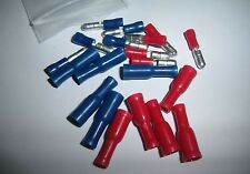 (20) Male/Female Combo Wire Bullet Connector Red/Blue Car Audio Alarm Terminals