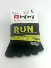 INJINJI TOE SOCKS RUN 2.0 LIGHTWEIGHT MINI CREW BLACK SIZE S