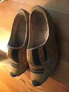 dutch wooden clogs size 9.5